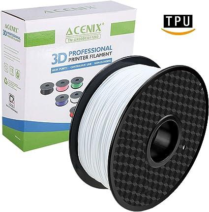 ACENIX - Filamento flexible para impresora 3D (TPU, 1,75 mm de ...