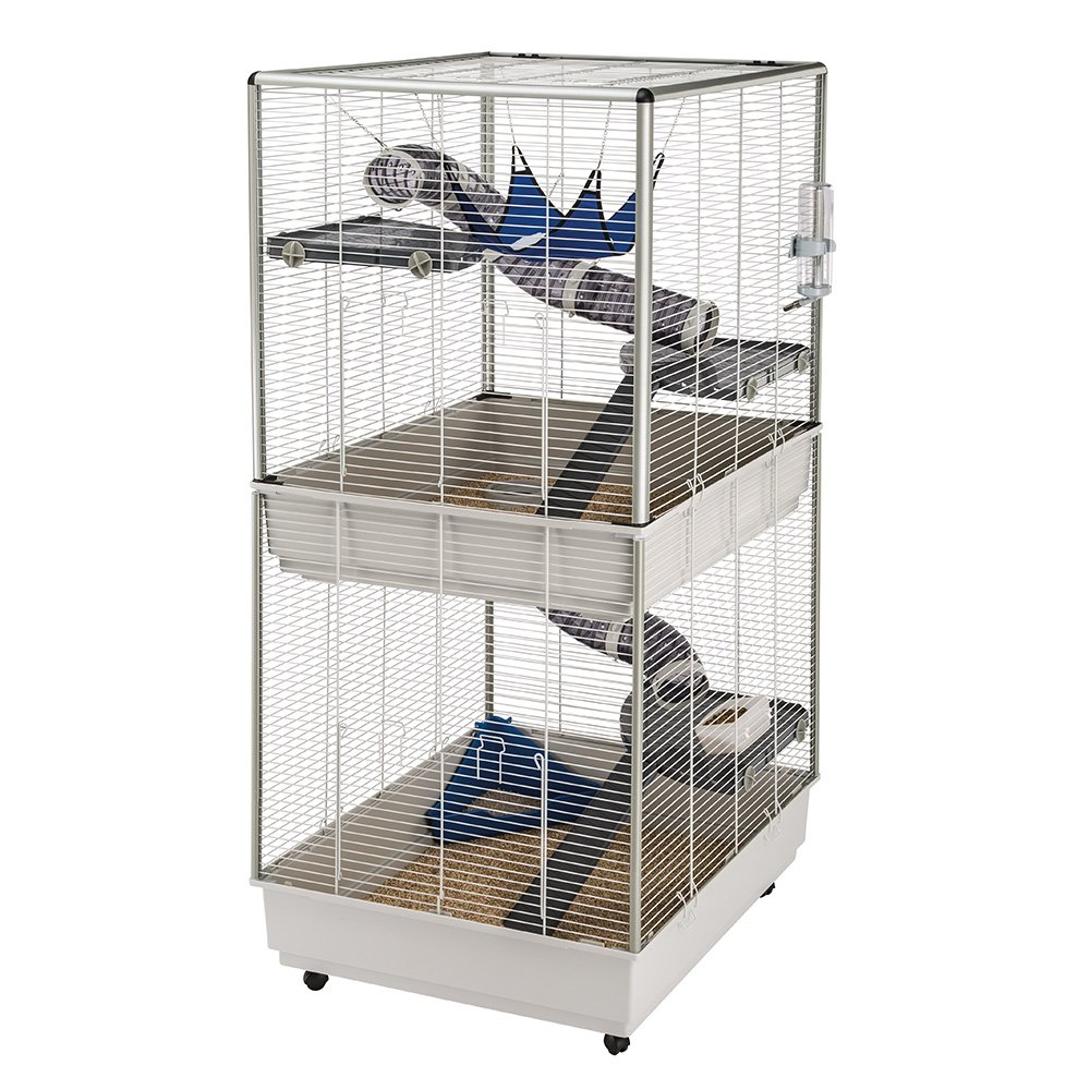 Ferplast Ferret Tower Two-Story Ferret Cage | XXL| Ferret Cage Measures 29.5L x 31.5W x 63.4H - Inches by Ferplast