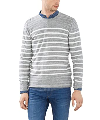 ESPRIT Herren Pullover Gestreift Regular Fit