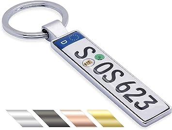 Schlüsselanhänger Mini Kennzeichen Kfz Auto Mit Namen Individuell Personalisiertes Geschenk Für Autoliebhaber Autofans Auto