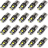 KAFEEK 20x T10 Wedge 194 168 2825 W5W LED Bulbs, Super Bright 3-3030 Chipset, CAN-Bus Error Free, Interior Lights…