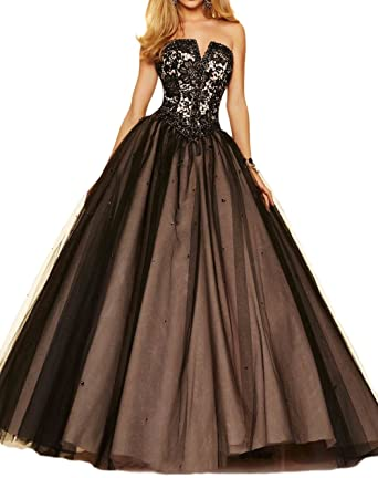 undefeated x cute lowest price M Bridal Women's Rhinestones Strapless V Cut Masquerade Ball ...