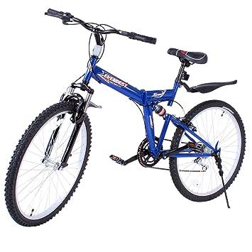 VEVOR Bicicleta MontañA Shimano De Acero Al Carbono MTB 26 Inch Mountainbike 66CM Plegable Bicicleta 7