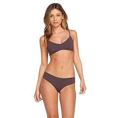 469e2f84d3b89f Amazon.com  Volcom Women s Junior s Simply Seamless V Neck Bikini ...