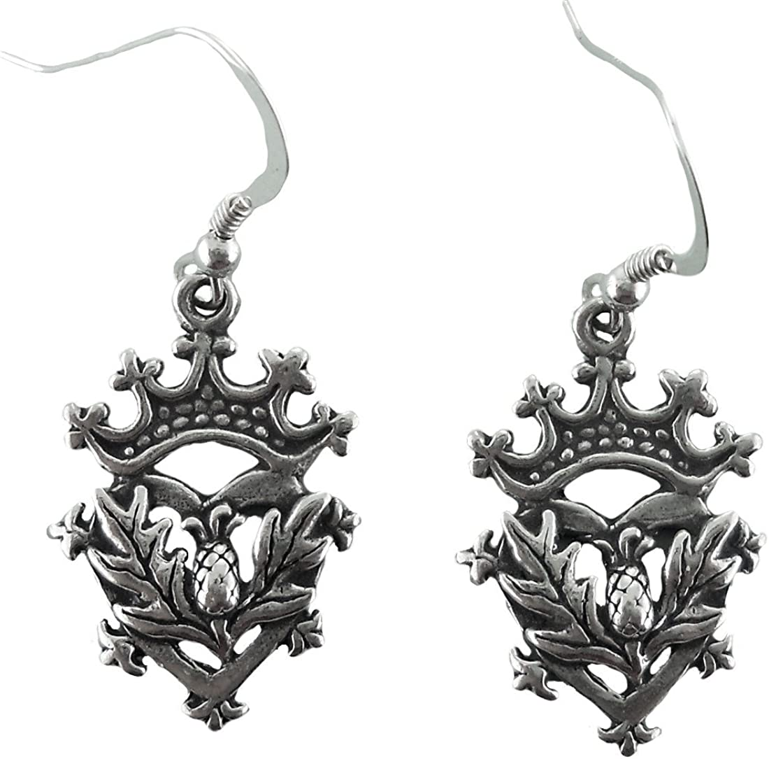 Corinna-Maria Sterling Silver Luckenbooth Thistle Earrings