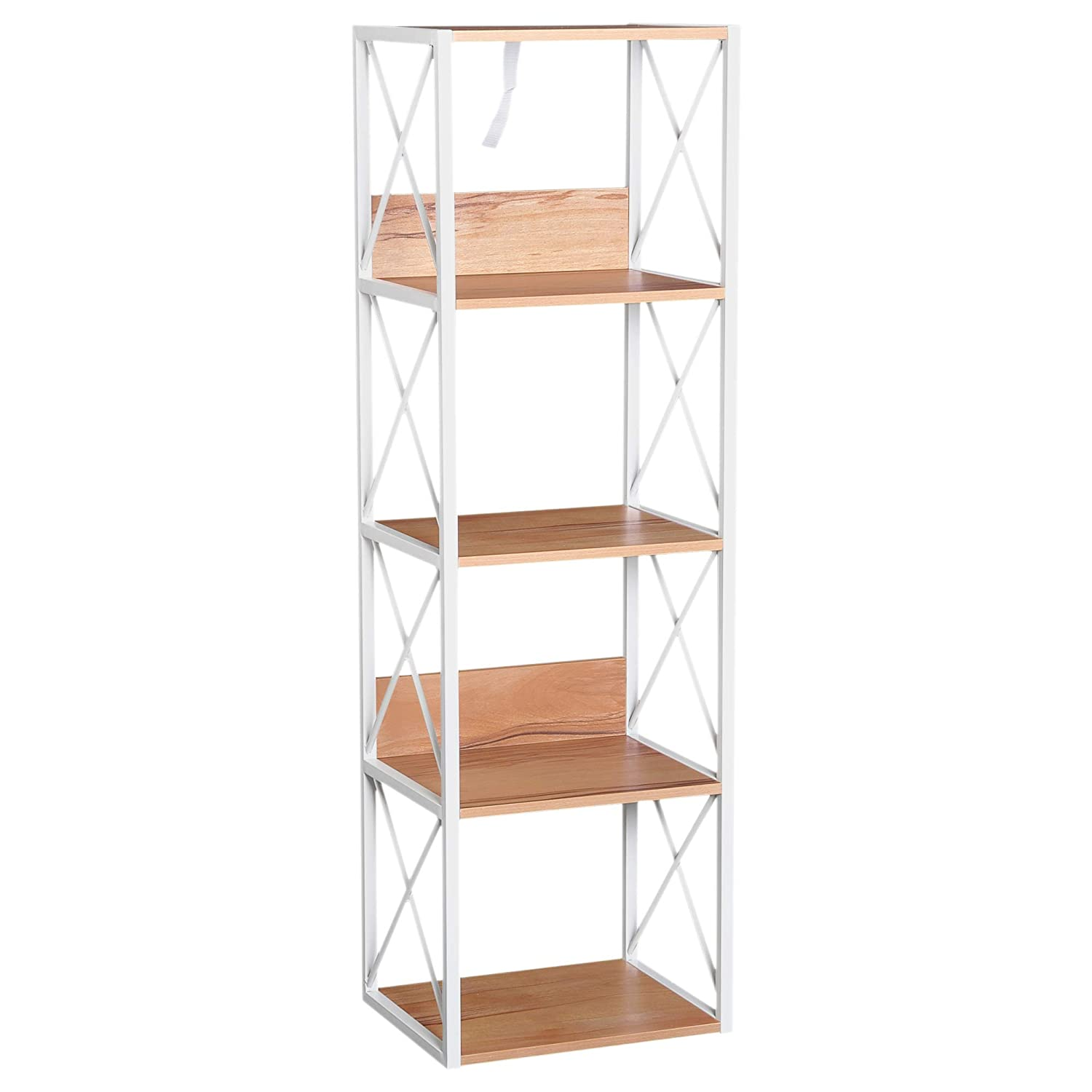 HOMCOM 3 Tier Wooden Shelf Freestanding Rack Organiser Display Bookcase Home Storage Utility Stand Multifunctional Holder Sold by MHSTAR