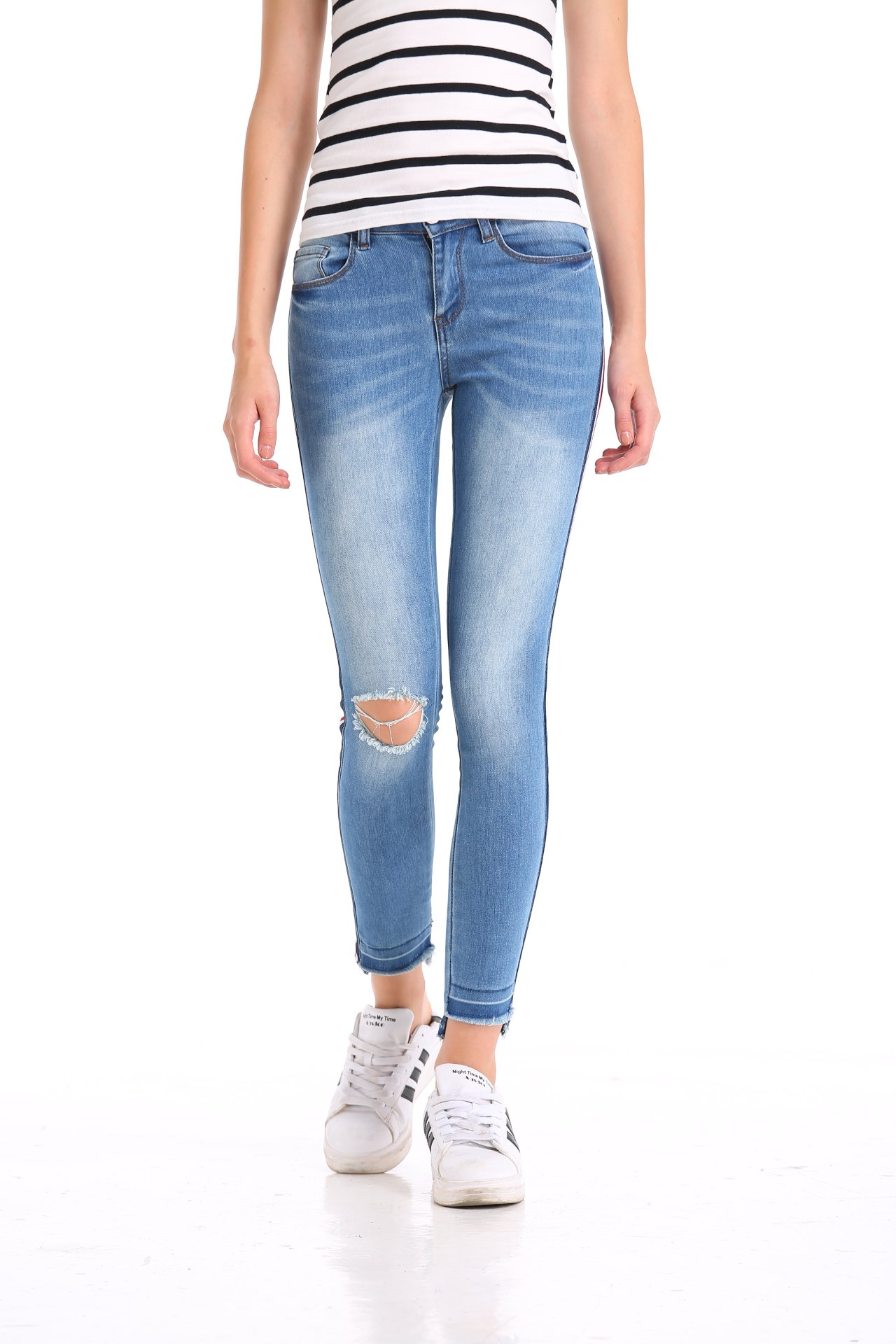 Pohiya Color Stripe Jeans (13)
