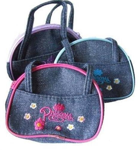 Ropa de descanso para niñas bolso de mano Diseño de princesas Disney Monedero tela vaquera con diseño de estampado de: Amazon.es: Zapatos y complementos