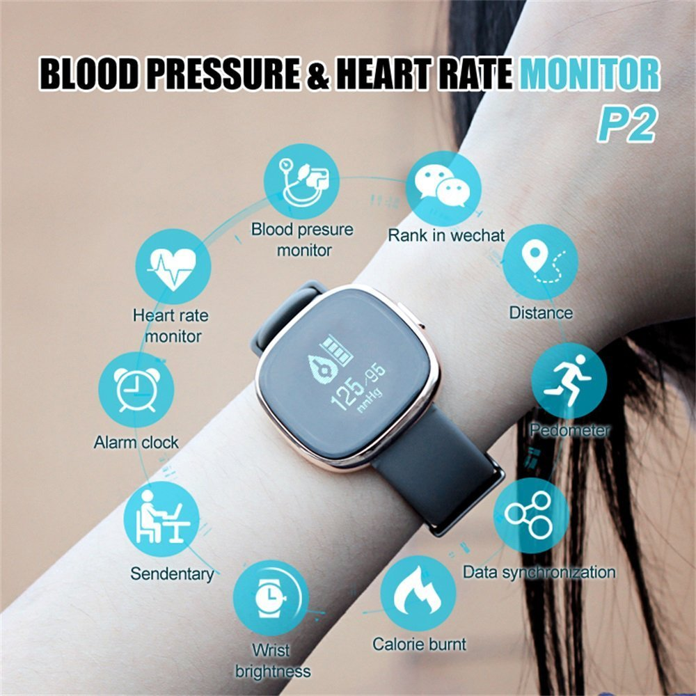 Waterproof Bluetooth Smart Watch with Blood Pressure /Heart Rate / Sleep Monitor Sports Fitness tracker Watch smart band Pedometer for IOS Android Smartphone by Tibang Fitness (Image #7)