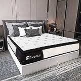 King Mattress, Avenco Hybrid Mattress King, 10 Inch Innerspring and Gel Memory Foam Mattress in a Box King, with…