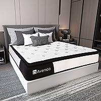 Queen Mattress, Avenco Hybrid Mattress Queen, 10 Inch Innerspring and Gel Memory Foam Mattress in a Box Queen, with…
