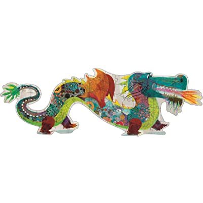DJECO Leon The Dragon Giant Floor Jig Saw Puzzle: Varios: Toys & Games