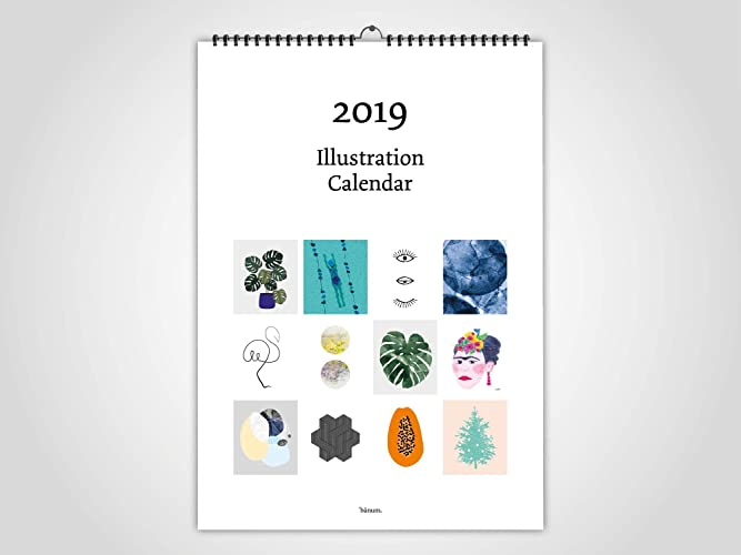 Kalender Weihnachten 2019.Illustration Kalender 2019 Abreißkalender Wandkalender Kalender
