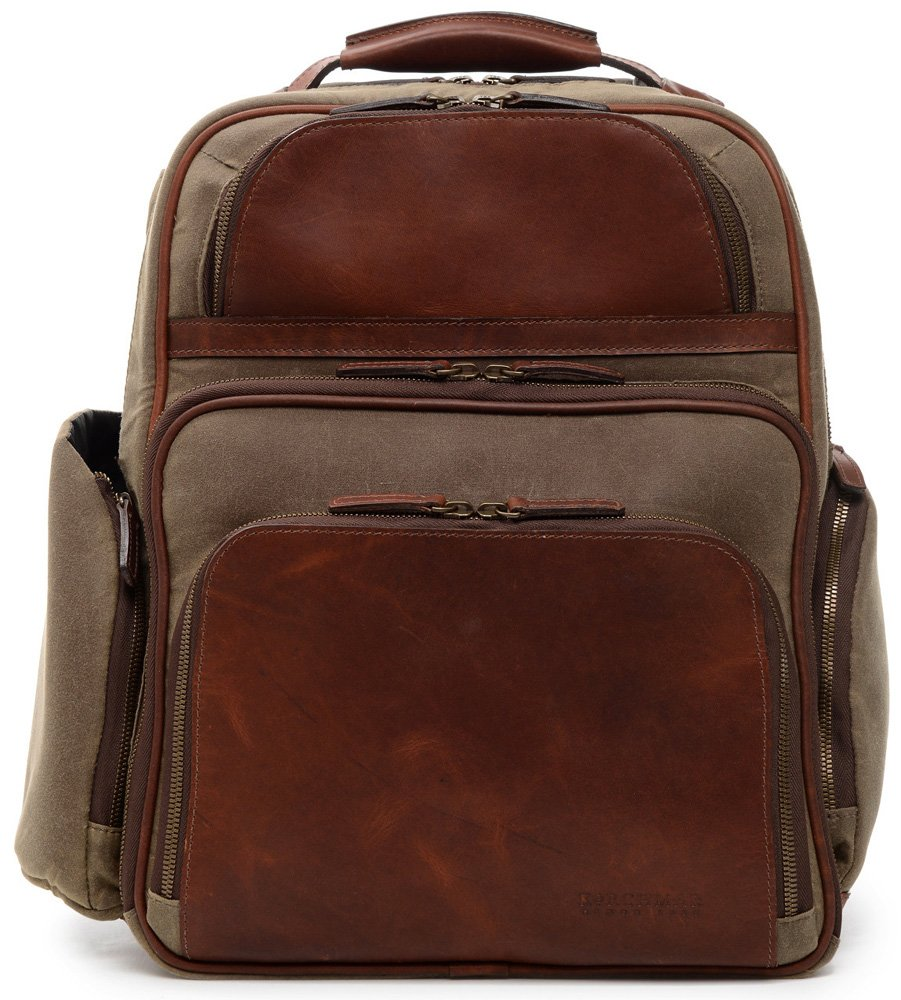 Korchmar Mason 16'' Business & Travel Backpack Z3254 (OLIVE) by Korchmar Briefcases