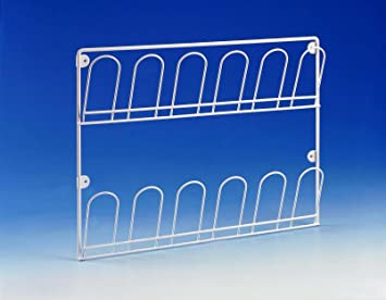 harvey white wall mounted shoe rack