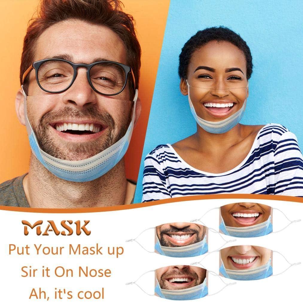 Homme Femme Dr/ôle Humour Imprim/é Protecteur Richwu Pretend Not Wearing A Face/_Mask Adulte 1pc Visage/_Masque,Coton Tissu Lavable et R/éutilisable