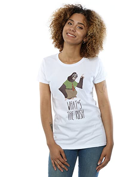Amazon.com  Disney Women s Zootropolis What s The Rush T-Shirt  Clothing adfbebc9df