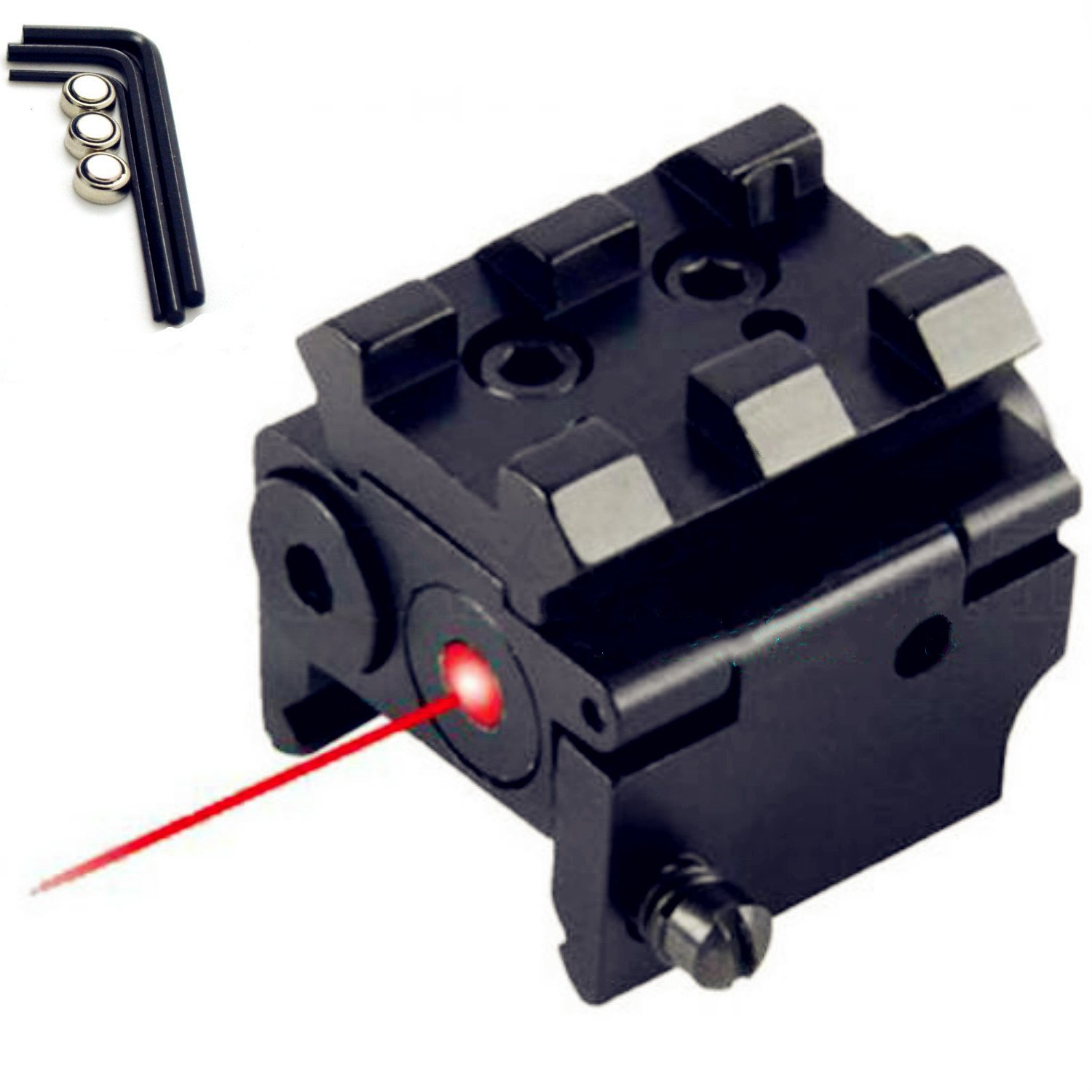 WNOSH Tactical Red Dot Sight Waterproof Shockproof Sight Red Light Mil Dot Sight Scope with Battery Tools
