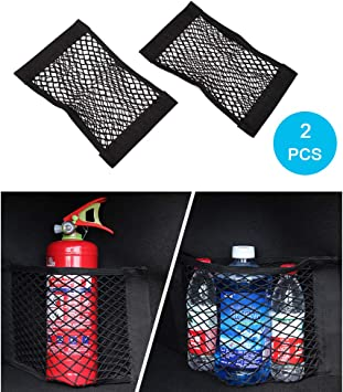 For Mercedes-Benz Mesh Net Trunk Cargo Net  Car Seat Storage Bag 40 x 25 cm