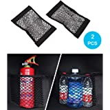 Universal Trunk Organizer MCARCAR KIT Rear Trunk Back Seat Cargo Mesh Net Bag Flexible Nylon Car Storage Wall Sticker…