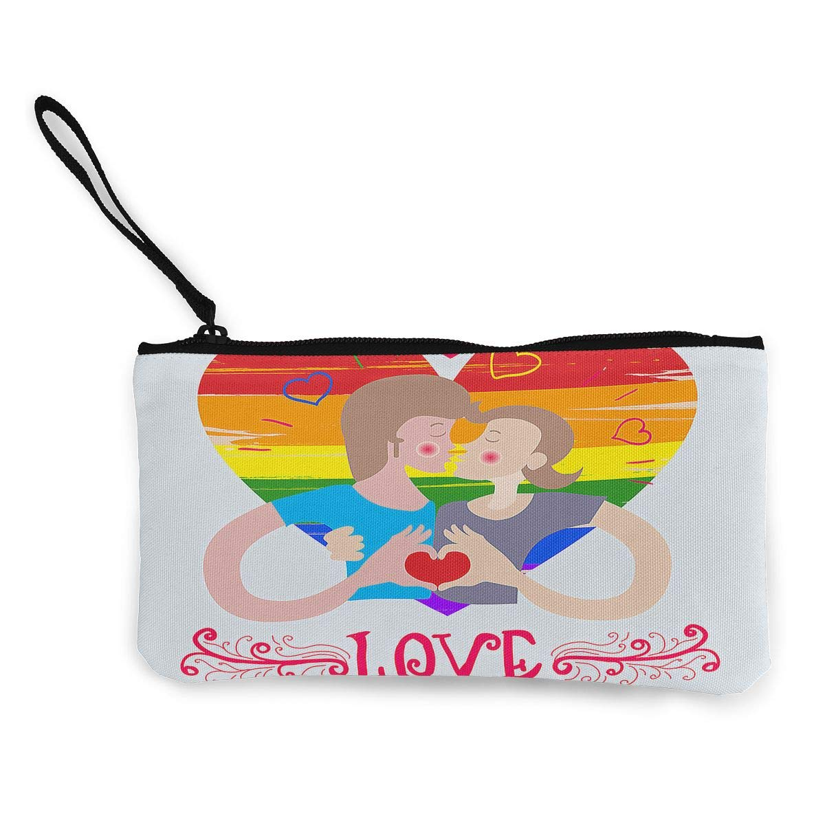 Maple Memories Valentines Day Gay Pride Portable Canvas Coin Purse Change Purse Pouch Mini Wallet Gifts For Women Girls