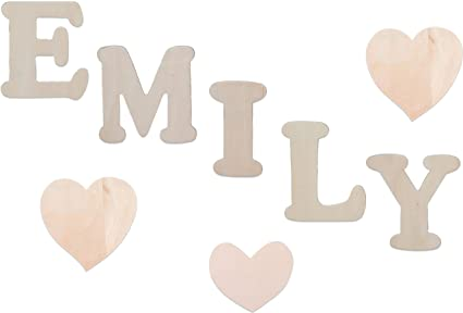 Amazon.com: Set of 8 Wooden Name Unfinished Wood Letter Shapes Kit