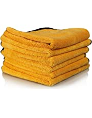 Chemical Guys MIC_506 toallas de microfibra de calidad profesional, color dorado (16 pulgadas) x 40,64 cm), Paquete de 6, Dorado, 16 in x 24 in