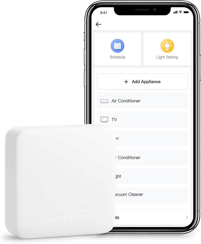 SwitchBot Hub Mini - Control inteligente, infrarrojo, enlace a Wi-Fi, control de aire acondicionado, compatible con Alexa, Google Home, Siri, IFTTT