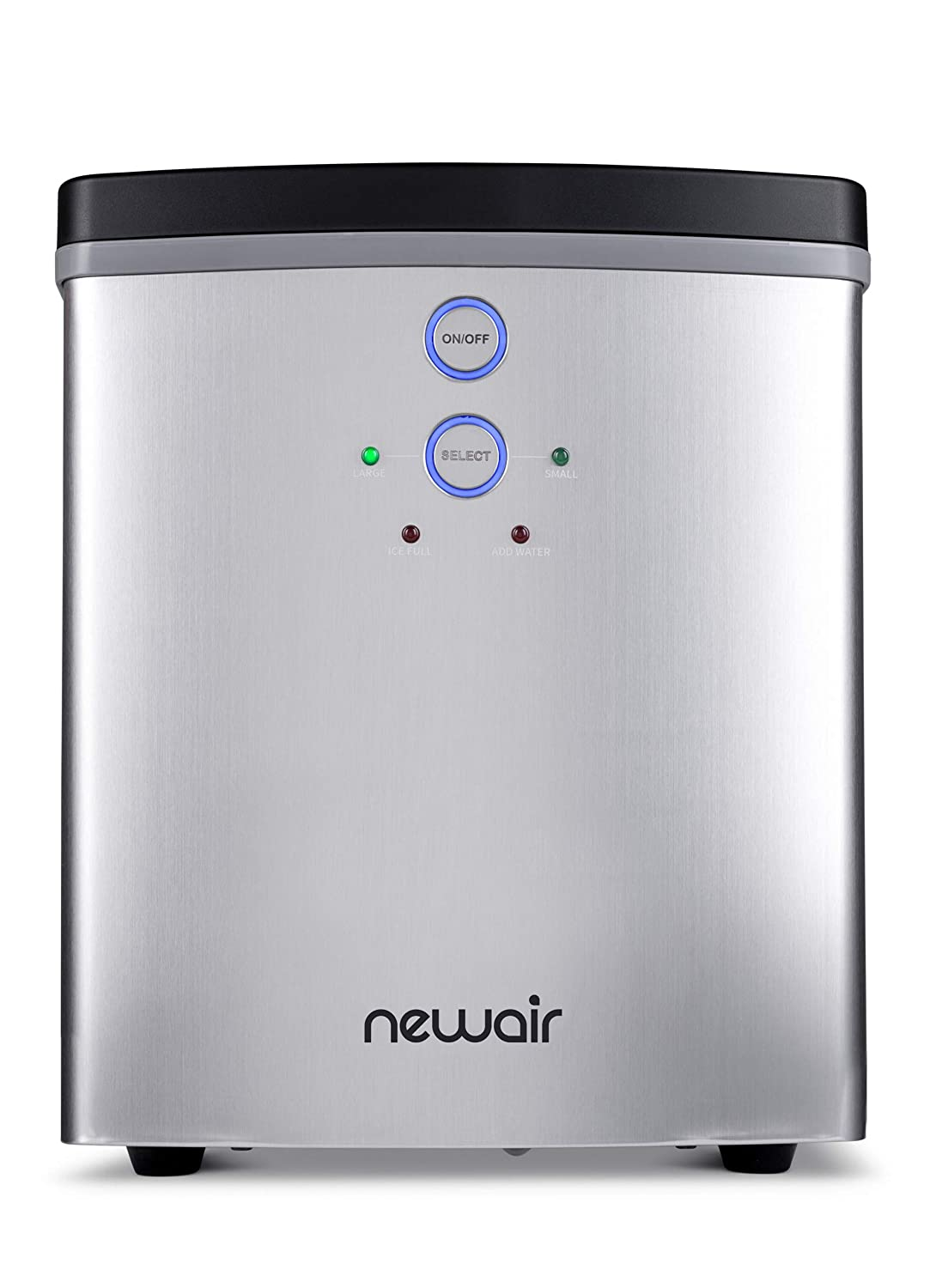 NewAir Portable Maker 33 lb 2 Ice Size Bullets Daily, Perfect Machine for Countertops, NIM033SS00, Stainless Steel, Stainless Steel