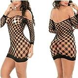Women Exotic Mini Dress Mesh Sexy Underwear Babydoll Bodystocking