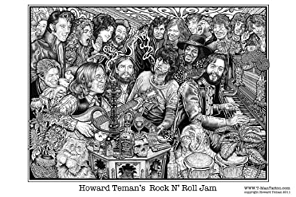 Rock n roll jam poster by howard teman 36 x 24in