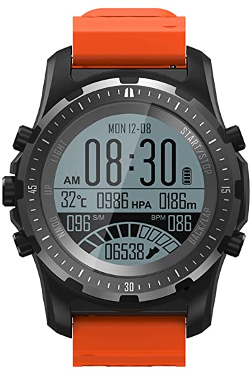 Reloj inteligente GPS Compass Fitness Tracker Monitor de ritmo cardíaco IP67 Bluetooth Sport Actividad Reloj de