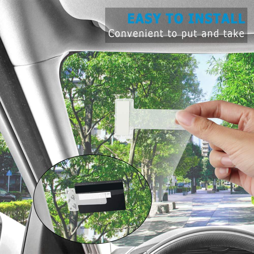 chudian 12 Pezzi Clip Parabrezza Porta Biglietti Auto Ticket Holder Clip in Plastica per Parcheggio per Parabrezza Finestra con Clip Adesive 4 * 7.4cm