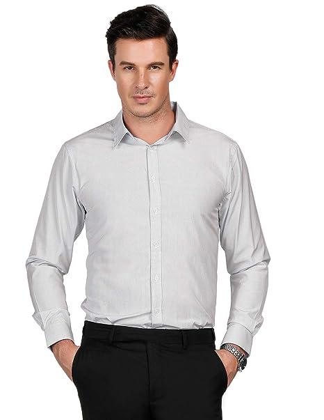 a2303c65 Men's Stylish Point Collar Button Down Cotton Workwear Shirts Size S Black