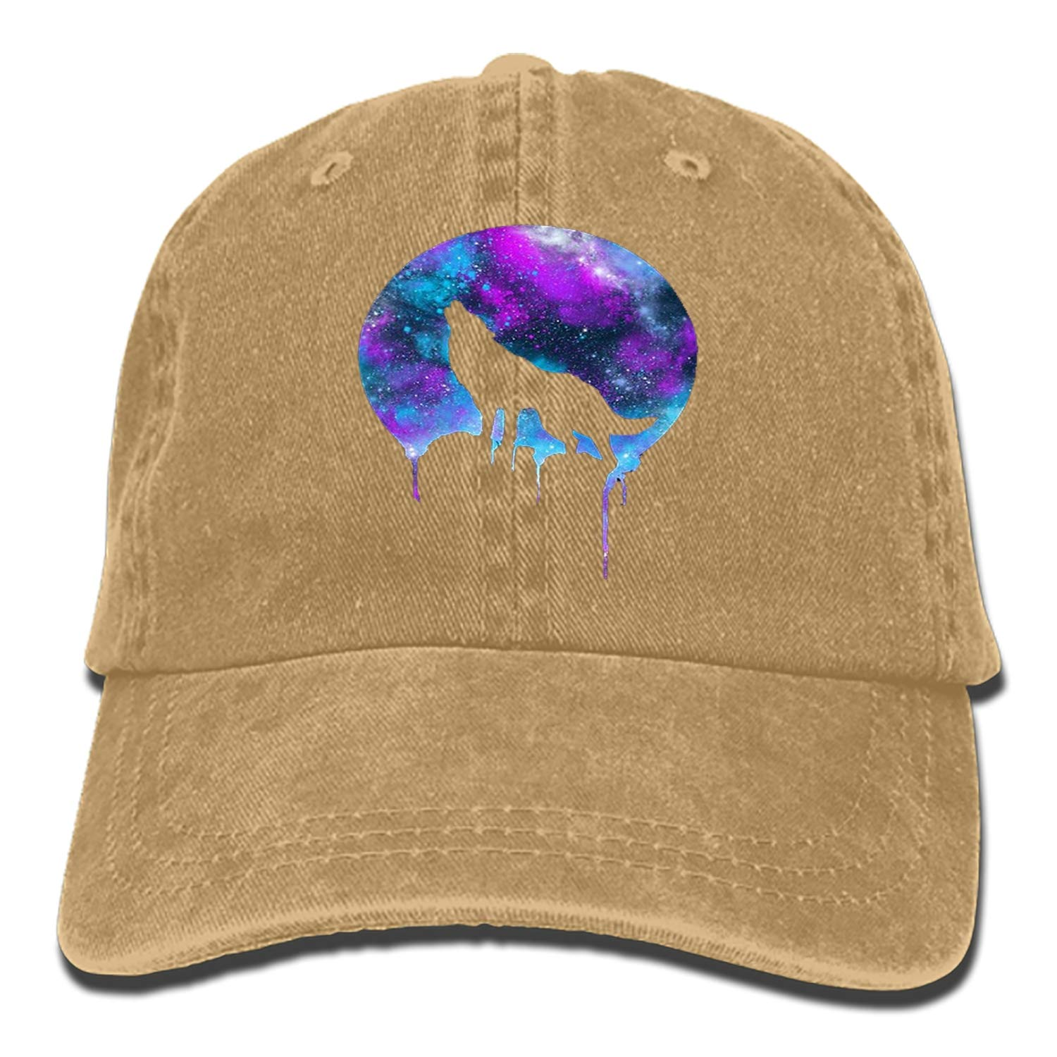 Custom Space Howl Classic Cotton Adjustable Baseball Cap Dad Trucker Snapback Hat