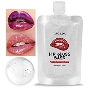 DAGEDA Lip Gloss Base,Moisturizing Clear Lip Gloss Base And Diy Lip Makeup Primers, Non-Stick Lip Glaze Base Oil For DIY Handmade Organic Lip Balms Lip Gloss Lipstick Primer,Women&Girls