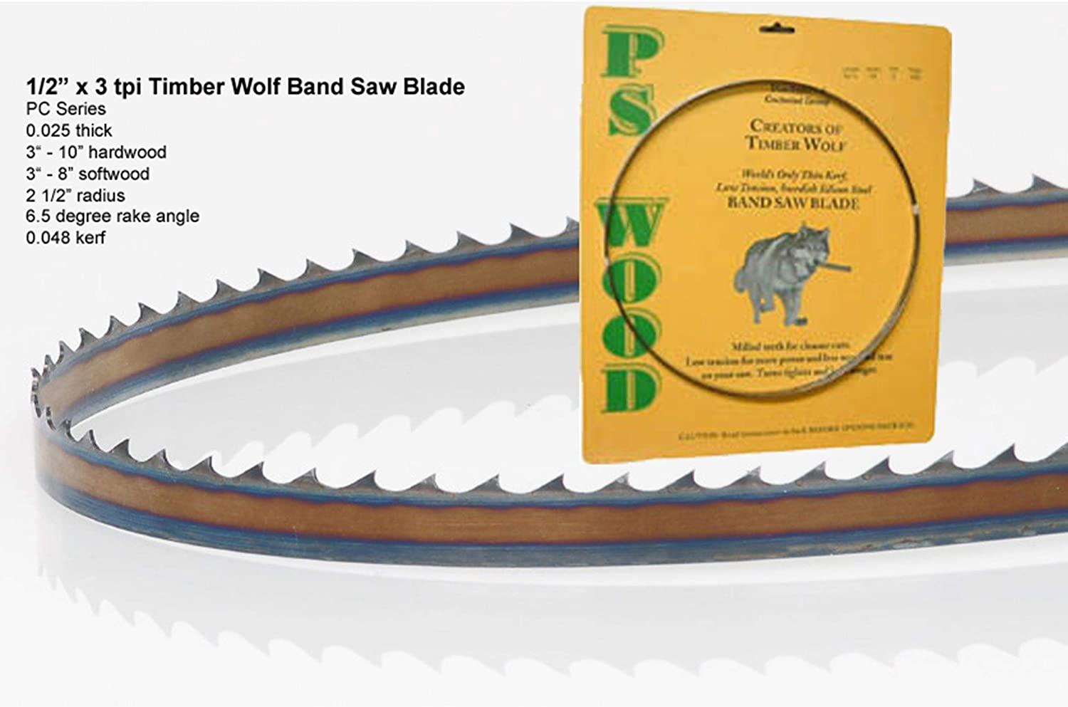 """105/""""Olson AllPro PGT Band Saw Blade 1//2/"""" .025/"""" 3 HOOK  APG72605 Made In USA"""