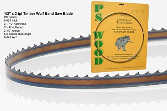 1//8 Inch Wide Best Woodworking Band Saw Blade for Timber Wolf Band Saw Blades