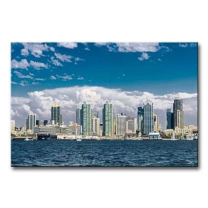 Amazon.com: So Crazy Art Wall Art Painting San Diego Skyline ...