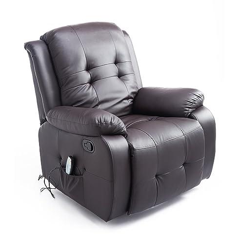 Sessel mit liegefunktion  Homcom Massagesessel mit Wärmefunktion Fernsehsessel Relaxsessel ...