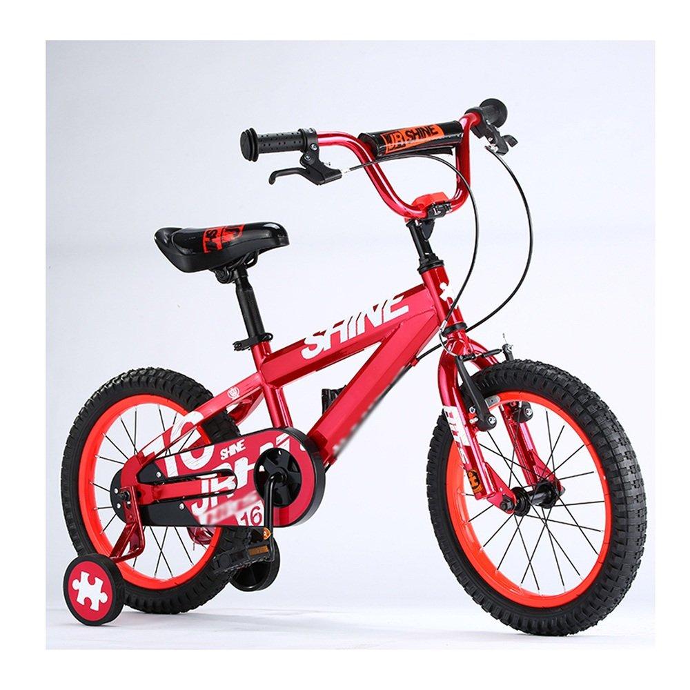 ZHIRONG 子供用自転車 トレーニングホイール付きの少年の自転車と少女の自転車 12インチ、14インチ、16インチ、18インチ アウトドアアウト ( 色 : 赤 , サイズ さいず : 16 inch ) B07CRQ1S5T赤 16 inch
