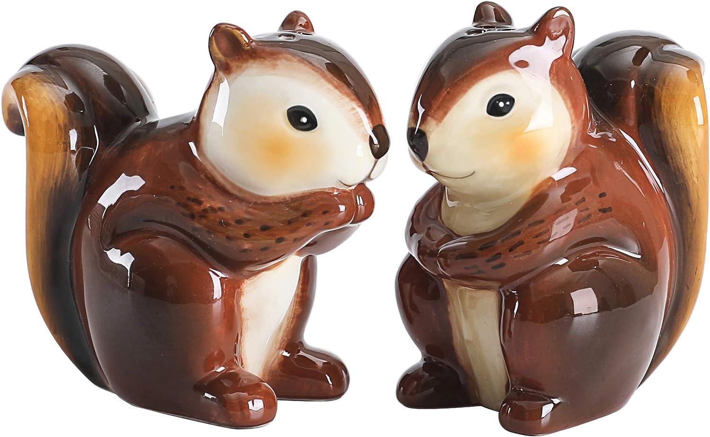 Bico Squirrel Salt & Pepper Shaker Set, Handpainted, Dishwasher Safe
