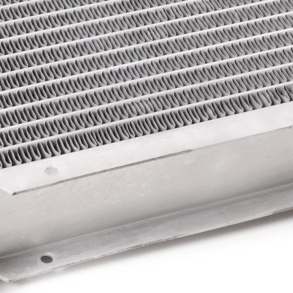 46mm alto flujo aluminio doble n/úcleo motor raza radiador de enfriamiento