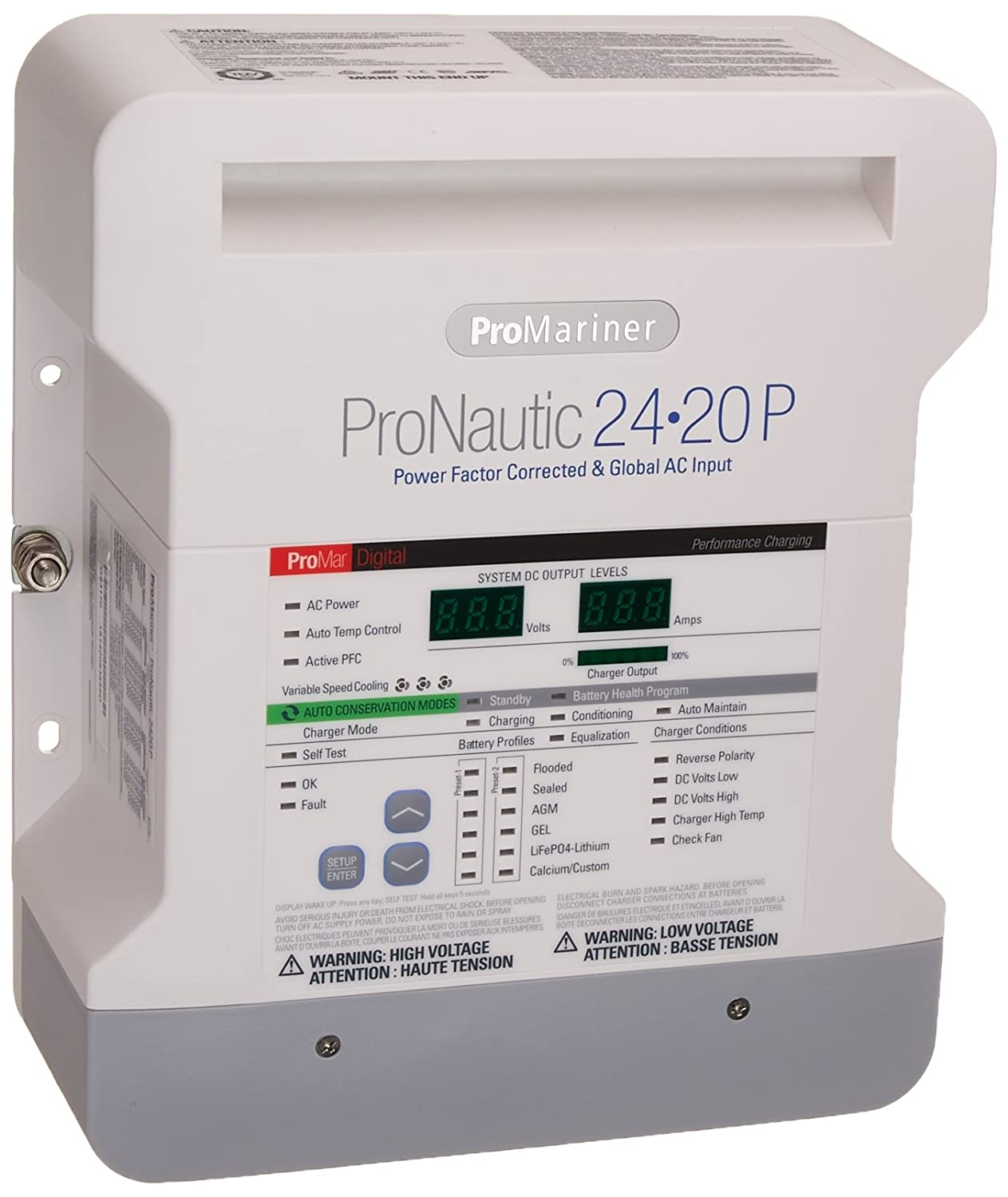 Promariner 63170 Pronauticp Series 2420p 24 Volt 20 Flooded Battery Bank Wiring Design Amp Charger Cell Phones Accessories