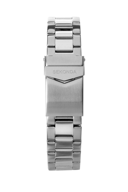Sekonda Silver Bracelet/Black Dial