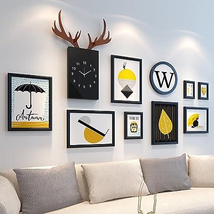 Amazon.com - Home@Wall photo frame Wood Photo Frames, 12 pcs/sets ...