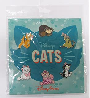 Disney Pins HKDL Disney Cats 6 Pin Booster Set   Marie Cheshire Figaro Lady  Oliver Si