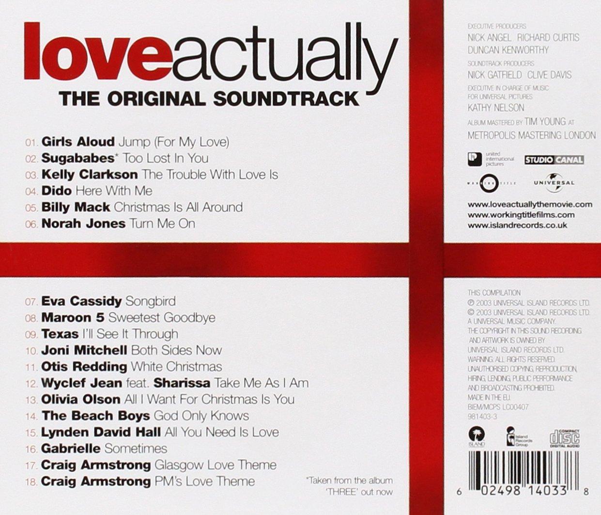 Love Actually - Various, Girls Aloud, Sugababes, Kelly Clarkson ...