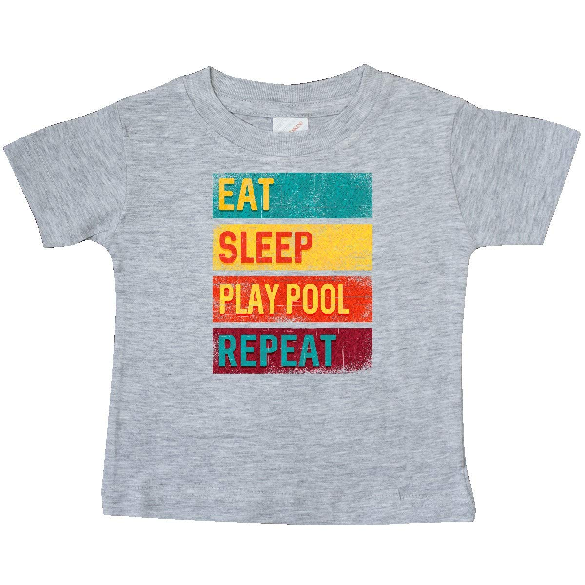 inktastic Billiards Eat Sleep Play Pool Repeat Baby T-Shirt