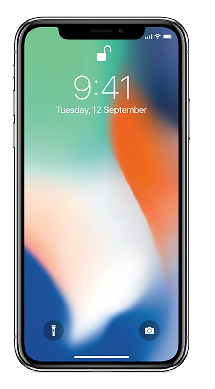 Apple iPhone X (Silver, 64GB) - with 70% Jio Buyback Offer